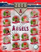 """Anaheim Angels - 2008 Team Composite by Daphne Brissonnet - 8"""" x 10"""""""