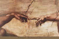 The Creation of Adam (detail) Fine Art Print
