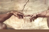"Creation of Adam (hands detail) by Michelangelo Buonarroti - 36"" x 24"""
