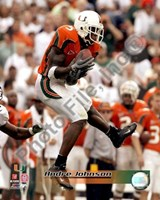 "Andre Johnson University of Miami Action by Daphne Brissonnet - 8"" x 10"""