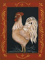 "Rooster by Pat Fischer - 12"" x 16"""