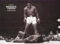 Muhammad Ali - 1965 1st Round Knockout Against Sonny Liston (landscape) Wall Poster
