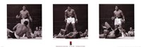Muhammad Ali - 1965 1st Round Knockout Against Sonny Liston - Triptych Wall Poster