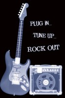 "Plug In Tune Up Rock Out by Daphne Brissonnet - 24"" x 36"""