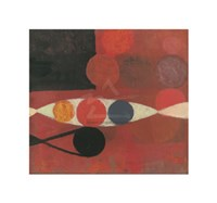 "Small Red Seed #6 by Bill Mead - 15"" x 14"" - $10.99"