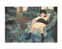 """Little Girl in a Blue Armchair, 1878 by Mary Cassatt, 1878 - 14"""" x 11"""""""