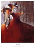"""Persimmon Vase I by Terri Burris - 17"""" x 22"""""""