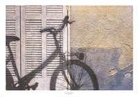 Bicycle Arriving Fine Art Print