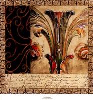 Antique French Manuscript II Framed Print