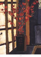 "Japanese Lanterns by Liz Jardine - 30"" x 42"""