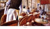 "Cafe Terrace by Adolf Llovera - 34"" x 20"""