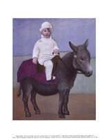 Paulo on a Donkey Fine Art Print