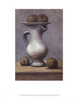Still Life with Pitcher and Apple Fine Art Print