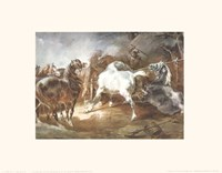 Fighting Horses Fine Art Print
