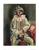 """Pierrot by Pablo Picasso - 22"""" x 28"""""""