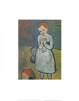 Child with Dove Fine Art Print