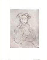 Girl in Beret Fine Art Print