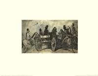Carriages and Horsemen Fine Art Print