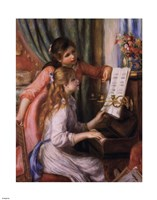Two Young Girls at the Piano by Pierre-Auguste Renoir - various sizes