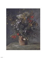 Flowers in a Vase, c. 1866 Fine Art Print