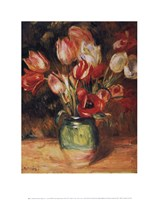 "Tulips in a Vase by Pierre-Auguste Renoir - 11"" x 14"""
