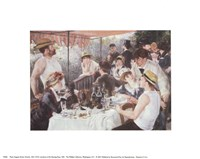 "Luncheon of the Boating Party, 1881 by Pierre-Auguste Renoir, 1881 - 10"" x 8"", FulcrumGallery.com brand"