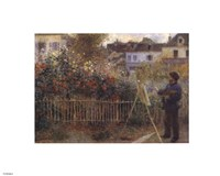 Monet Painting in the Garden at Argenteuil, 1873 by Pierre-Auguste Renoir, 1873 - various sizes