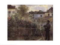 Monet Painting in the Garden at Argenteuil, 1873 Fine Art Print