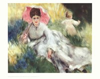 Woman with a Parasol Fine Art Print