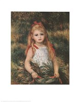 """Girl with a Sheaf of Corn by Pierre-Auguste Renoir - 22"""" x 28"""""""