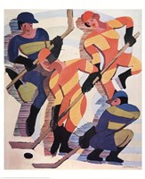 Hockey Players Fine Art Print