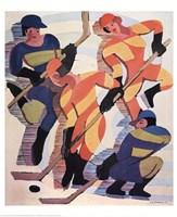 Hockey Players Fine Art Print