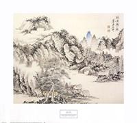 Pavilion with Distant Mountain Fine Art Print