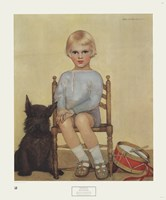 Boy with Dog Fine Art Print
