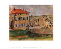 """House at Aix by Paul Cezanne - 28"""" x 22"""""""