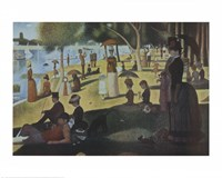 Sunday Afternoon on the Island of La Grande Jatte, c.1886 Fine Art Print