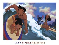 Lilo's Surfing Adventure Framed Print