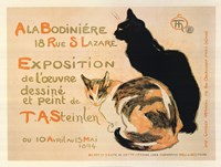 A la Bodiniere / Exposition Steinlen Fine Art Print