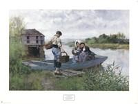 Picnic on the River Fine Art Print