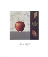 Red Apple and Leaves Fine Art Print
