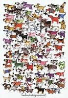 One Hundred Dogs and a Cat Fine Art Print