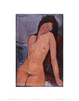 "Seated Nude, ca. 1917 by Amedeo Modigliani, 1917 - 11"" x 14"""
