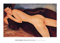 "Reclining Nude from the Back, 1917 by Amedeo Modigliani, 1917 - 36"" x 26"""