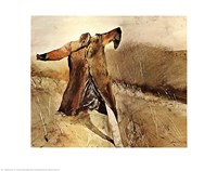 "Benny's Scarecrow by Andrew Wyeth - 28"" x 22"""