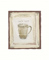 Cafe latte Framed Print