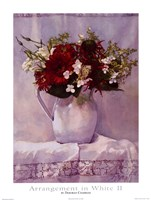 "Arrangement in White II by Deborah Chabrian - 18"" x 24"""