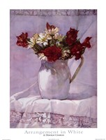 "Arrangement in White I by Deborah Chabrian - 18"" x 24"""