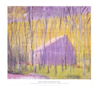 "Saltbox Barn, 2002 by Wolf Kahn, 2002 - 30"" x 26"""
