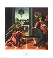 "Annunciation by Sandro Botticelli - 22"" x 24"""