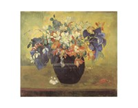 "A Vase of Flowers, 1896 by Paul Gauguin, 1896 - 14"" x 11"""